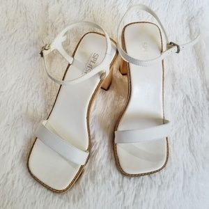 SPLASH FOOTWARE | White/Wooden Sandals
